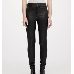 Rag & Bone Leather High-Rise Skinny Jean